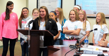 Students present to Board