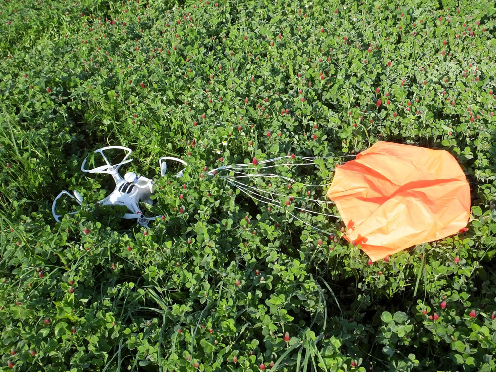 Safe Landing of the Drone with SkyFallX Drone Parachute