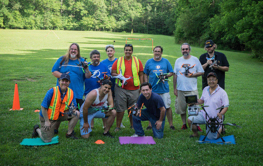 Some of the original members of the Drone Racing Club