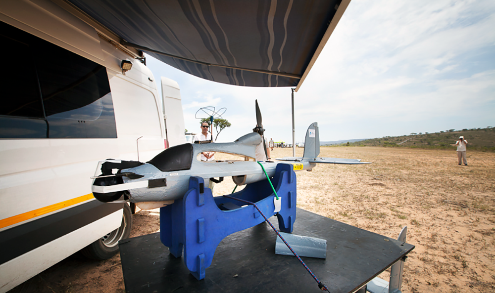 Air Shepherd Drone In the Field (Photo by Nicole Franco)