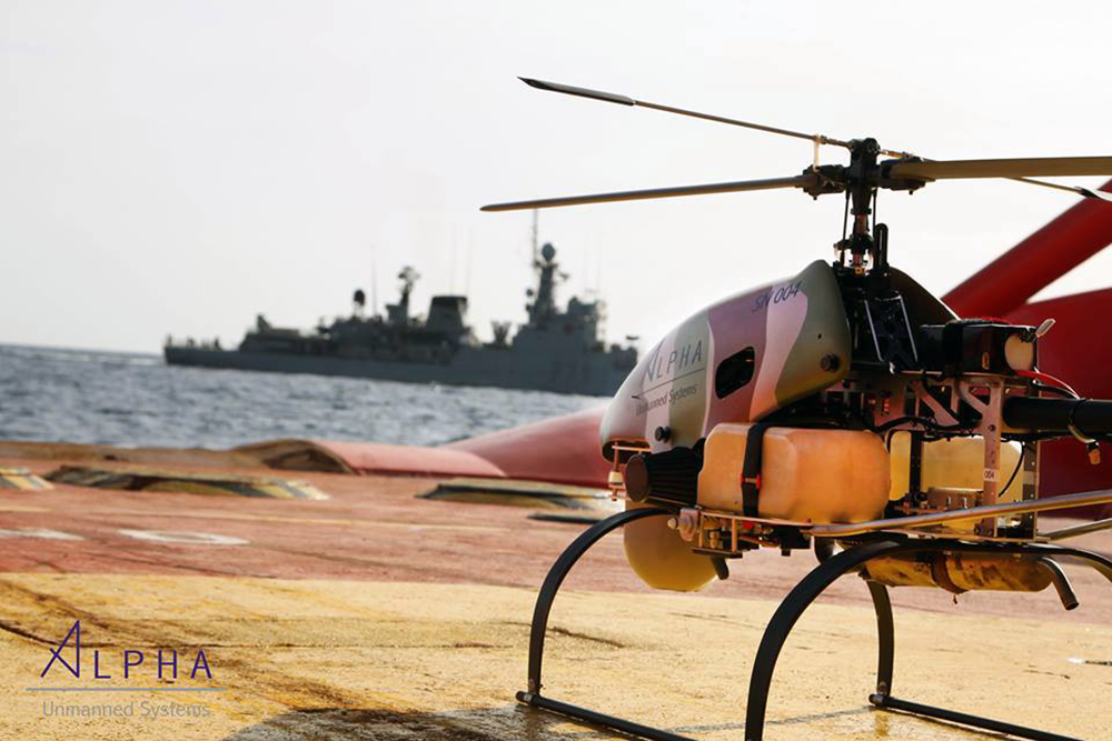 The SNIPER UAV Helicopter made by Unmanned Aerial Systems