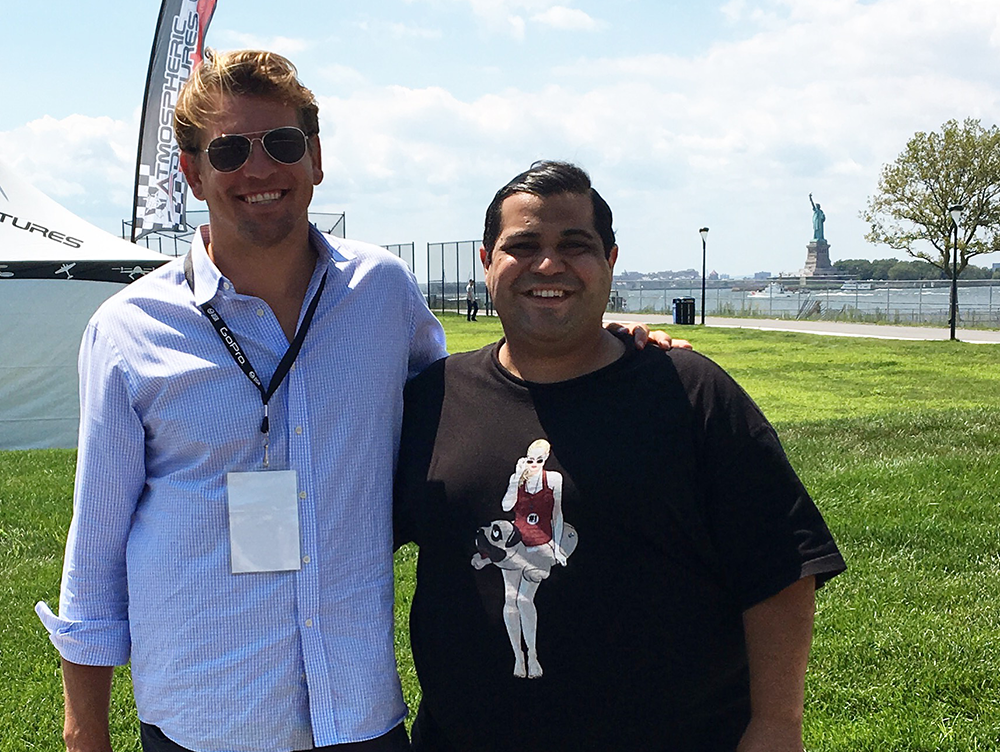 Bron With ESPN Writer Arash Markazi at the 2016 Drone Nationals