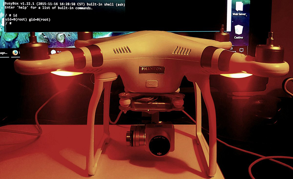 The DJI Phantom 3 hacked into by Paolo Stagno