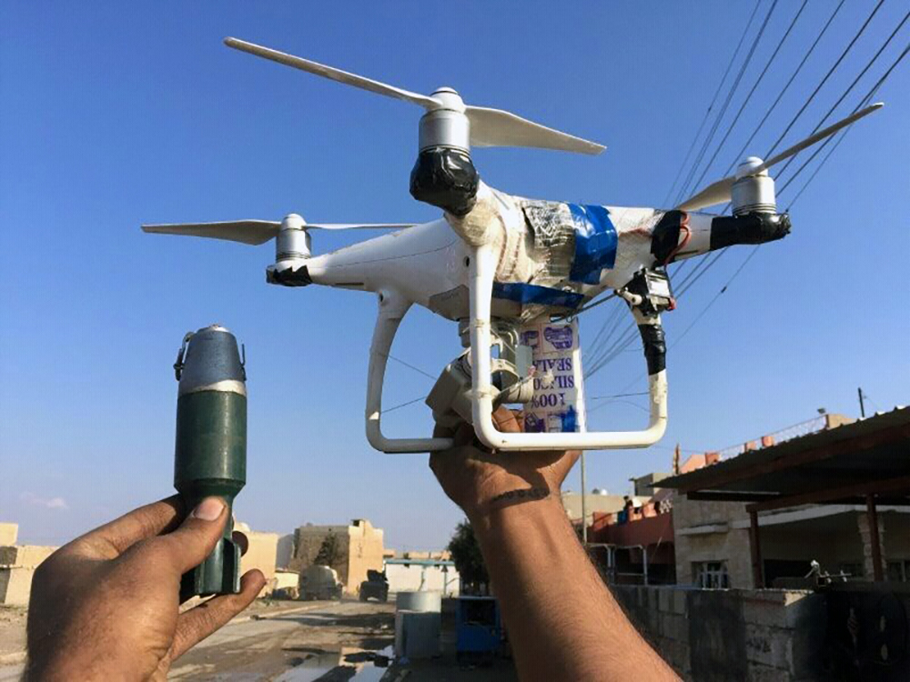 An ISIS drone found with a grenade made to drop out of the sky onto targets