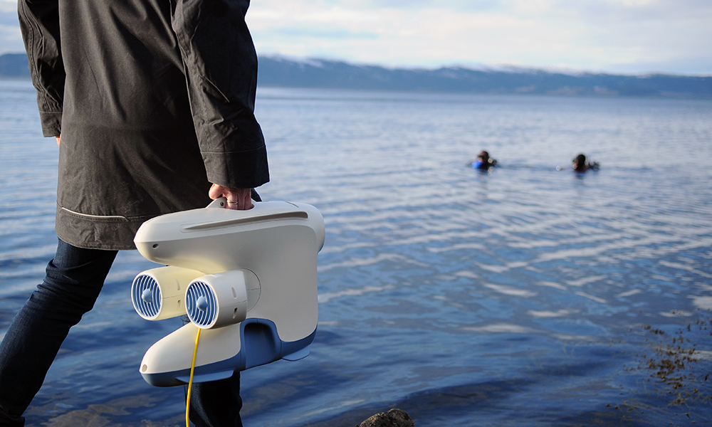 Ever wonder what it would be like to pilot an underwater drone?
