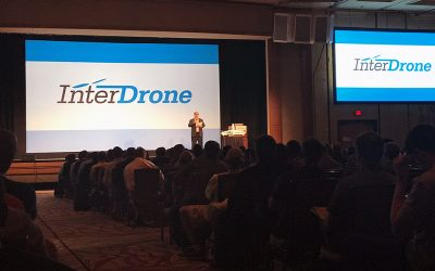 The InterDrone Industry Advisory Board: Katie Flash, InterDrone and Romeo Durscher, DJI and the InterDrone Industry Advisory Board
